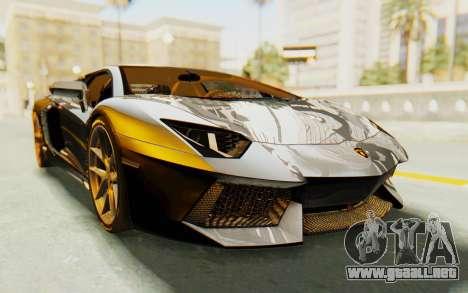 Lamborghini Aventador LP700-4 Light Tune para la visión correcta GTA San Andreas