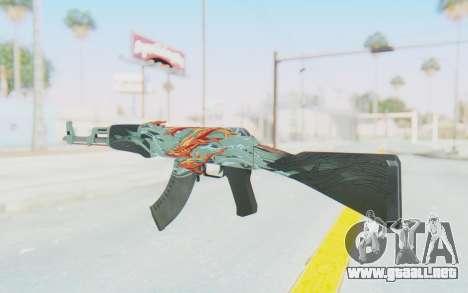 CS:GO - AK-47 Aquamarine Revenge para GTA San Andreas segunda pantalla