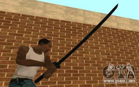 Sword of Blades para GTA San Andreas tercera pantalla