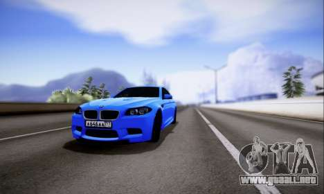 BMW M5 F10 G-Power para GTA San Andreas left