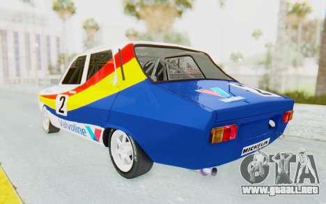 Dacia 1300 Rally para GTA San Andreas vista posterior izquierda