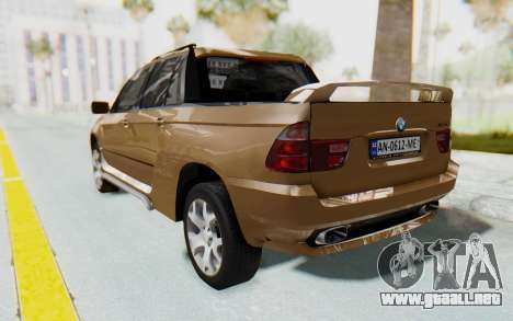 BMW X5 Pickup para GTA San Andreas left