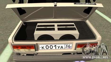 VAZ 2107 Deriva para visión interna GTA San Andreas