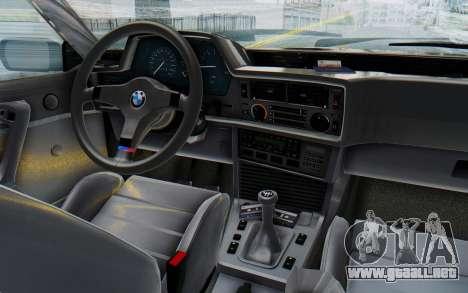BMW M635 CSi (E24) 1984 IVF PJ3 para visión interna GTA San Andreas