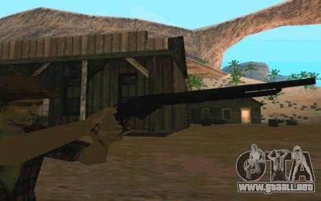 Winchester Model 1887 para GTA San Andreas sucesivamente de pantalla