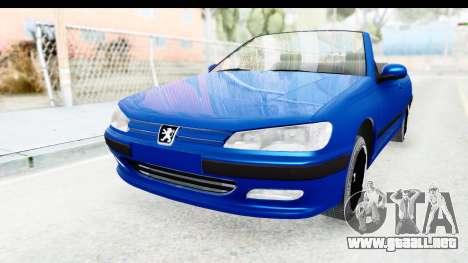 Peugeot 406 Cabrio Beta 0.8.3 para GTA San Andreas vista posterior izquierda