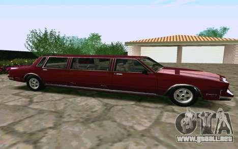 Tahoma Limousine v2.0 (HD) para GTA San Andreas left