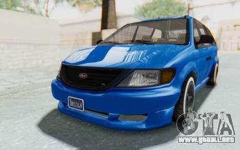 GTA 5 Vapid Minivan Custom para GTA San Andreas