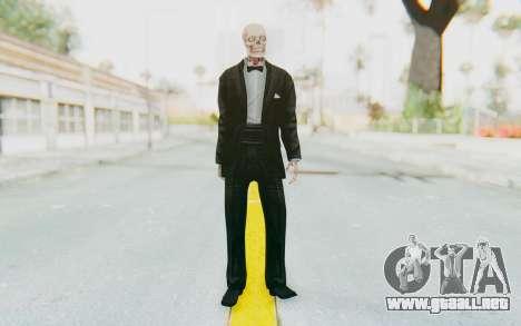 Skeleton in Tuxedo para GTA San Andreas segunda pantalla