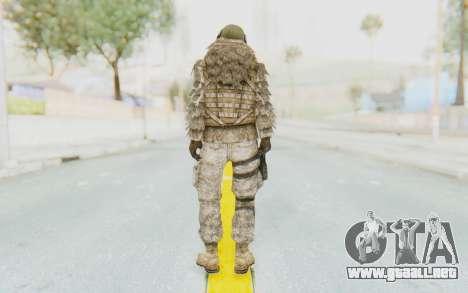 COD MW2 Ghost Sniper Desert Camo para GTA San Andreas tercera pantalla