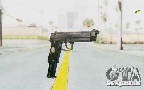 Tariq Iraqi Pistol Back v1 Silver Long Ammo para GTA San Andreas