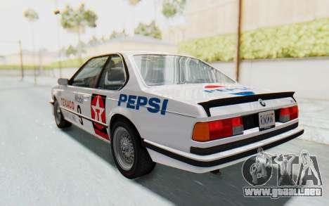 BMW M635 CSi (E24) 1984 IVF PJ2 para el motor de GTA San Andreas