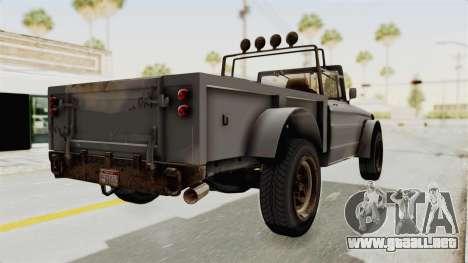 GTA 5 Canis Bodhi Trevor IVF para GTA San Andreas left