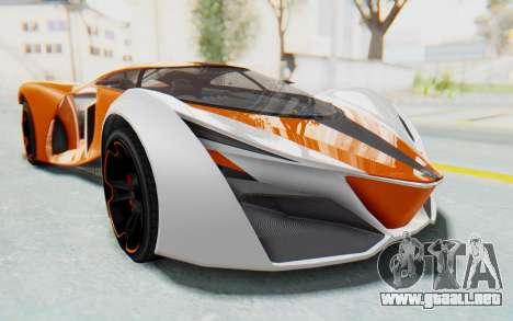 GTA 5 Grotti Prototipo v1 IVF para GTA San Andreas vista posterior izquierda