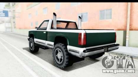 Yosemite Truck para GTA San Andreas left