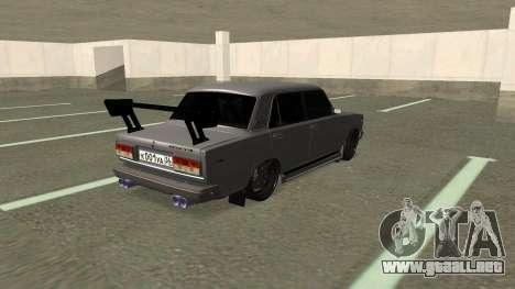 VAZ 2107 Deriva para GTA San Andreas vista posterior izquierda