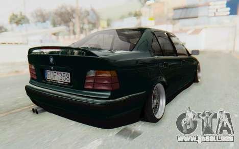 BMW 325tds E36 para GTA San Andreas vista posterior izquierda