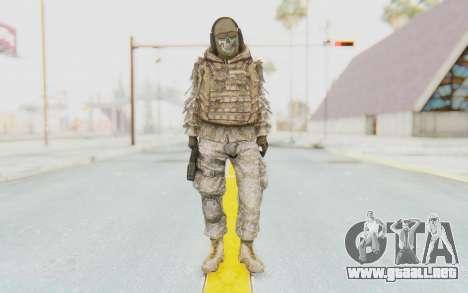 COD MW2 Ghost Sniper Desert Camo para GTA San Andreas segunda pantalla