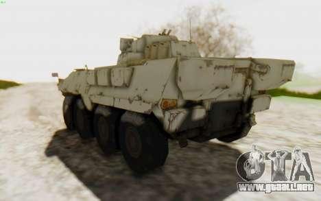 MGSV Phantom Pain STOUT IFV APC Tank v2 para la visión correcta GTA San Andreas