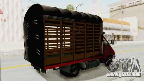 GAZelle 33021 Lápiz Colombia para GTA San Andreas vista posterior izquierda