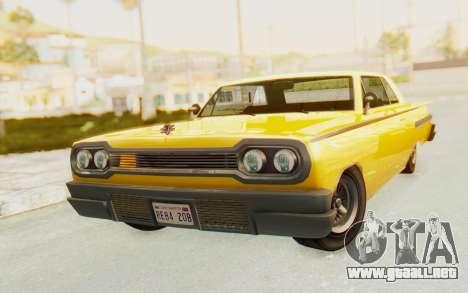 GTA 5 Declasse Voodoo PJ SA Lights para GTA San Andreas