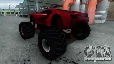 GTA V Vapid FMJ Monster Truck para GTA San Andreas vista hacia atrás