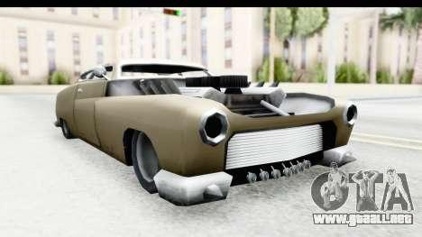 Hermes Ratrod para GTA San Andreas vista posterior izquierda