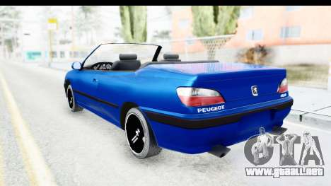 Peugeot 406 Cabrio Beta 0.8.3 para GTA San Andreas left