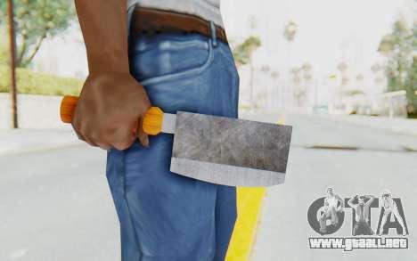 Butcher Knife para GTA San Andreas tercera pantalla