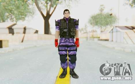 Kazuya Mishima (Ops Suit) para GTA San Andreas segunda pantalla