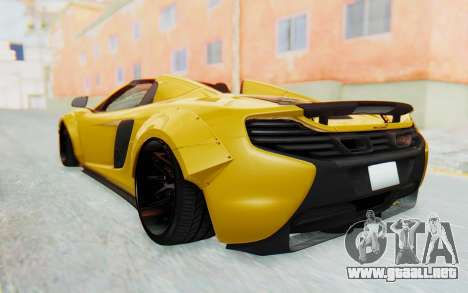 McLaren 650S Spyder ZenWorks para la visión correcta GTA San Andreas