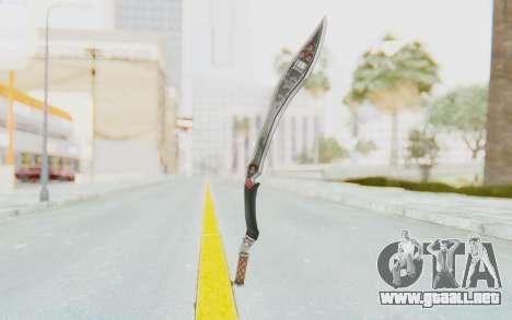 Nata Weapon para GTA San Andreas segunda pantalla