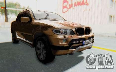 BMW X5 Pickup para la visión correcta GTA San Andreas