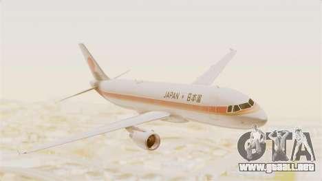 Airbus A320-200 Japanese Air Force One para GTA San Andreas vista posterior izquierda
