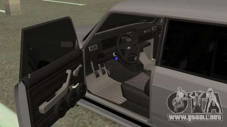 VAZ 2107 Deriva para GTA San Andreas vista hacia atrás
