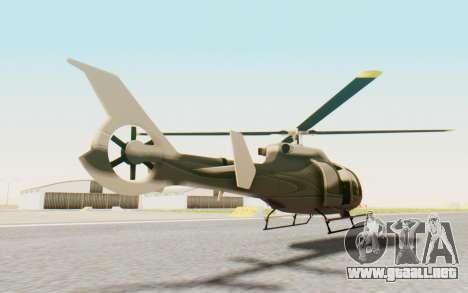 GTA 5 Maibatsu Frogger Civilian para GTA San Andreas vista posterior izquierda