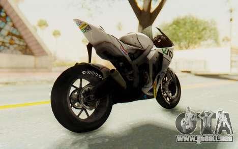 Honda RC212V para GTA San Andreas vista posterior izquierda