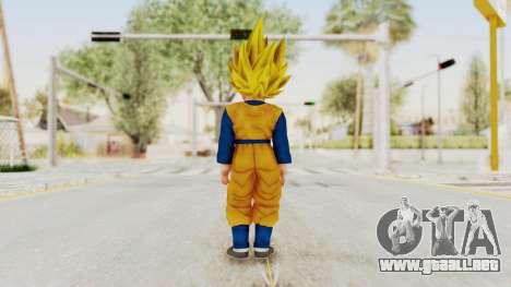 Dragon Ball Xenoverse Goten SSJ para GTA San Andreas tercera pantalla