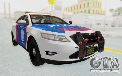 Ford Taurus Indonesian Traffic Police para GTA San Andreas vista posterior izquierda