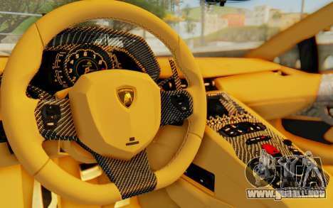 Lamborghini Aventador LP700-4 Light Tune para visión interna GTA San Andreas