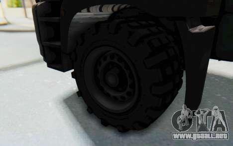 GTA 5 HVY Brickade IVF para GTA San Andreas vista hacia atrás