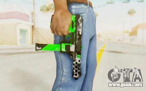 Tec-9 Neural Green para GTA San Andreas tercera pantalla