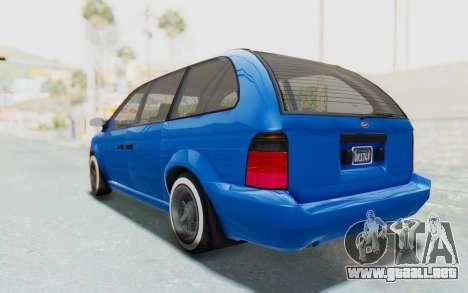 GTA 5 Vapid Minivan Custom para GTA San Andreas left