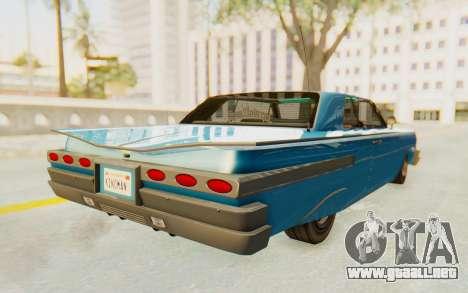 GTA 5 Declasse Voodoo PJ para GTA San Andreas vista posterior izquierda