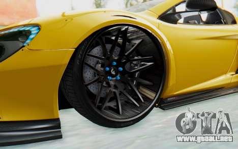 McLaren 650S Spyder ZenWorks para GTA San Andreas vista hacia atrás