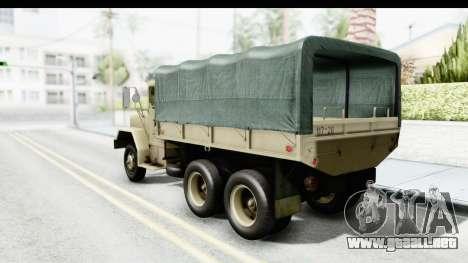 AM General M35A2 Sand para GTA San Andreas left