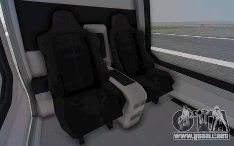 GTA 5 Buckingham Volatus v2 para GTA San Andreas vista hacia atrás