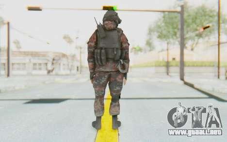 COD MW2 Russian Paratrooper v2 para GTA San Andreas tercera pantalla