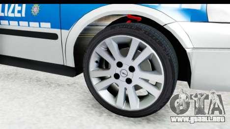 Opel Astra G Variant Polizei Hessen para GTA San Andreas vista hacia atrás