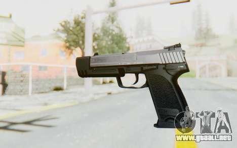 HK USP 45 Chrome para GTA San Andreas segunda pantalla